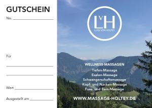 Gutschein Wellness-/Tiefenmassage